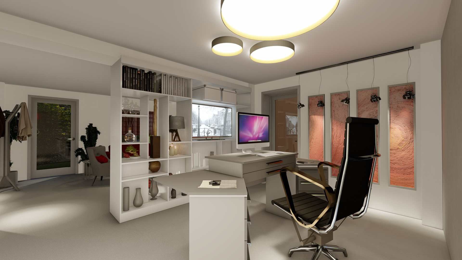 modern office and chair