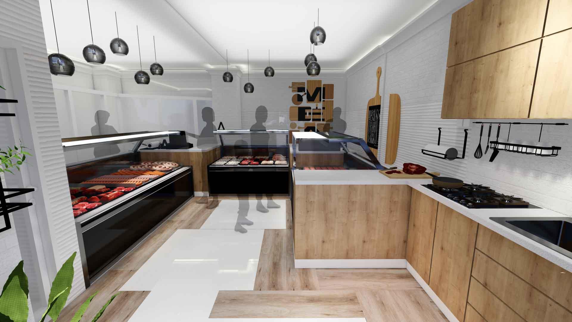 bucătărie în spațiu comercial