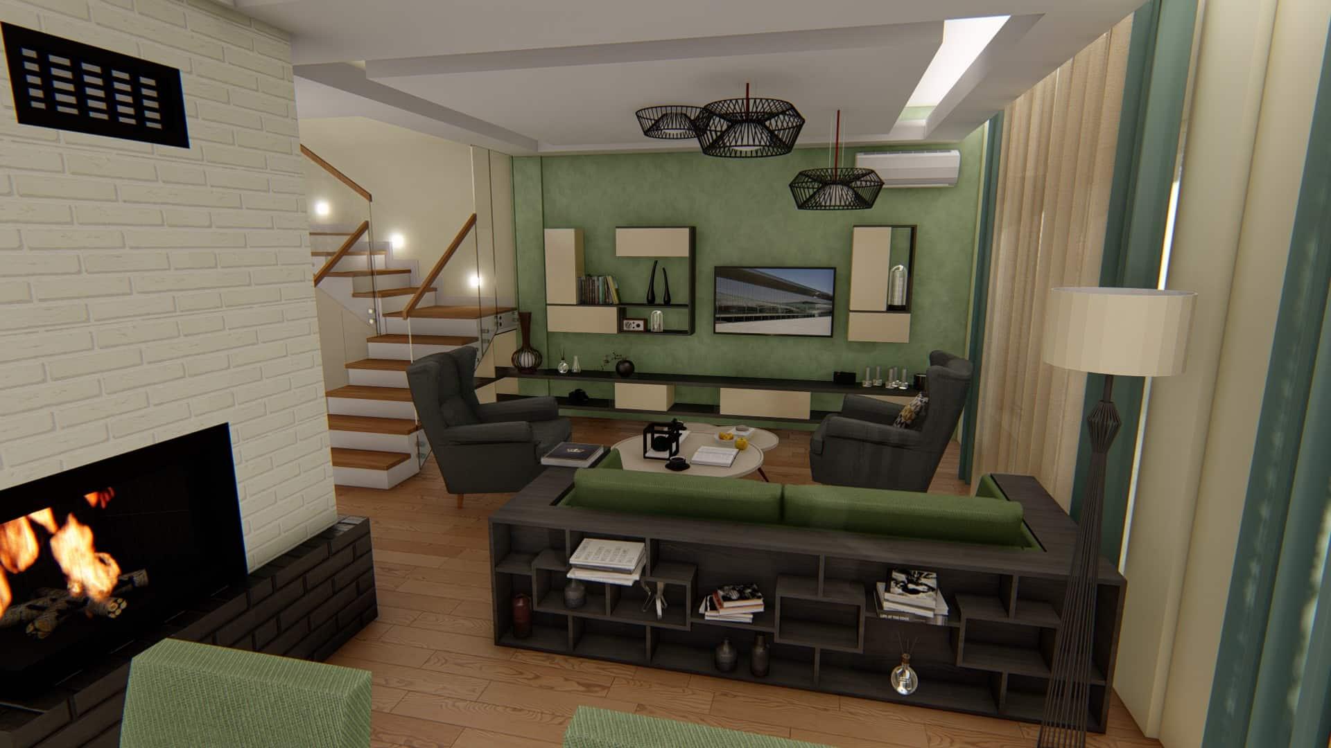 camera de zi verde spatioasa
