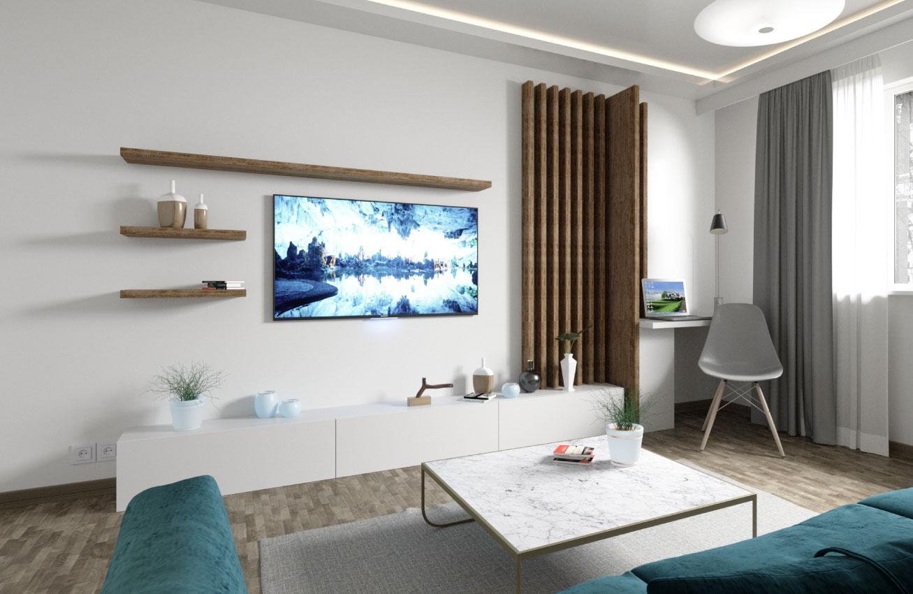 un nou inceput living modern lemn