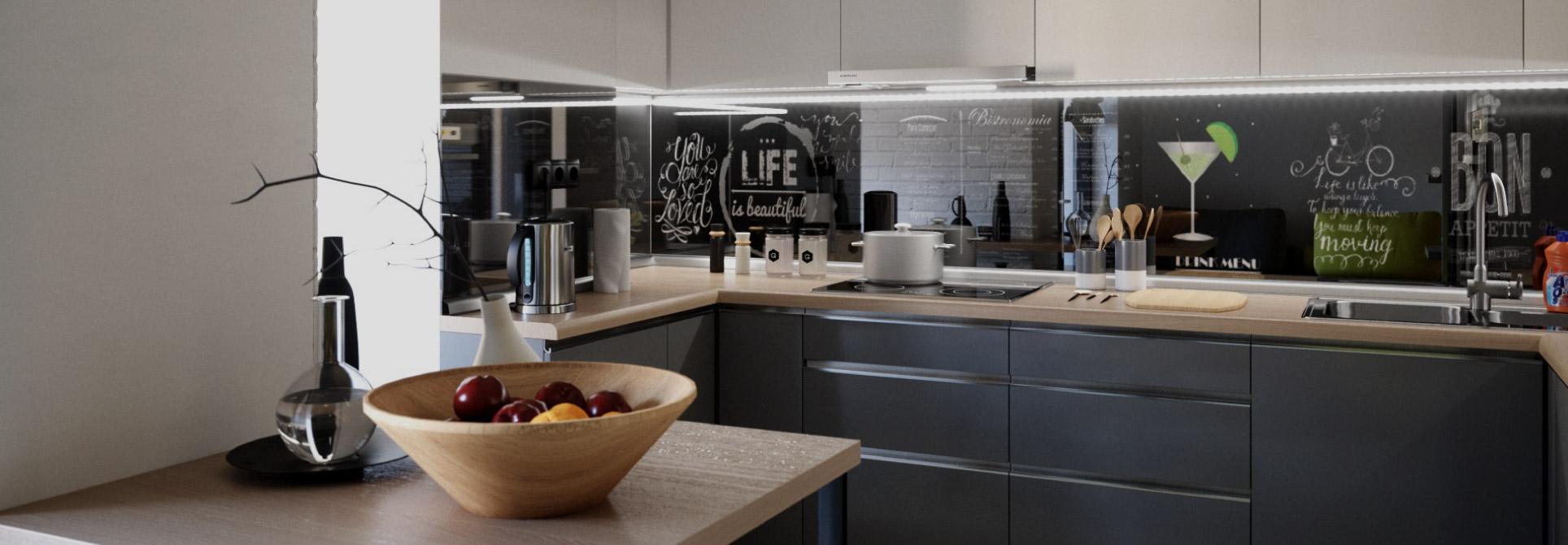 viata e frumoasa bucatarie moderna manere aluminiu