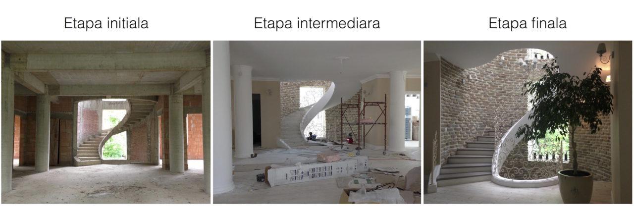 etapele procesului de design interior