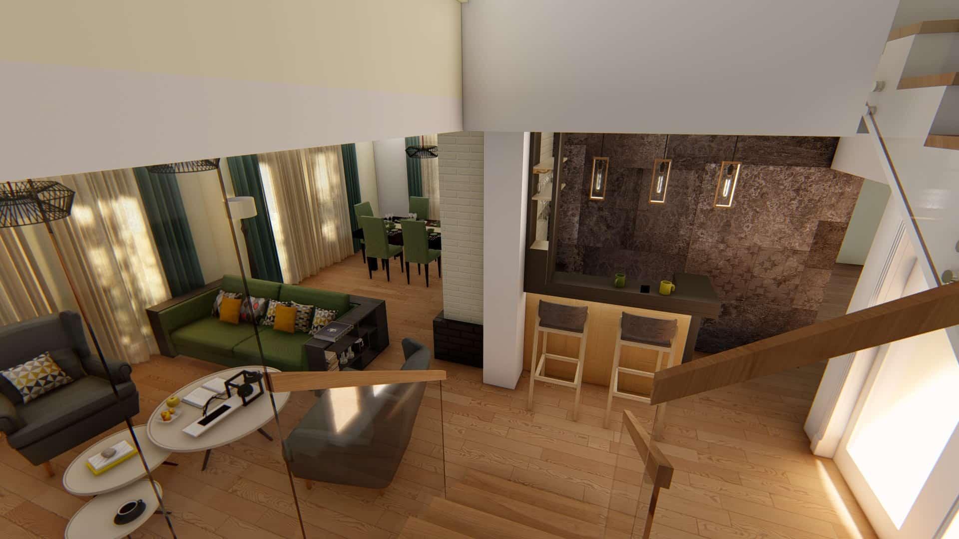 scara spre living room modern