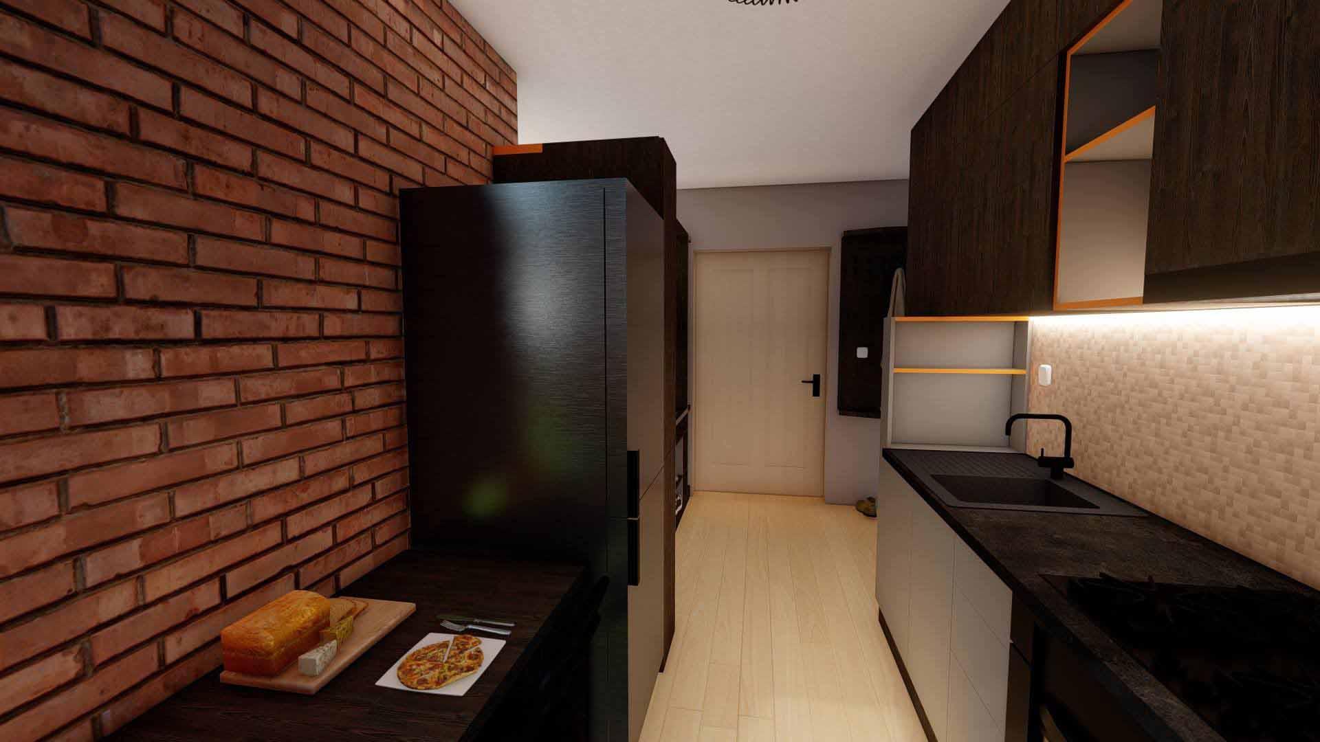 frigider in bucatarie moderna