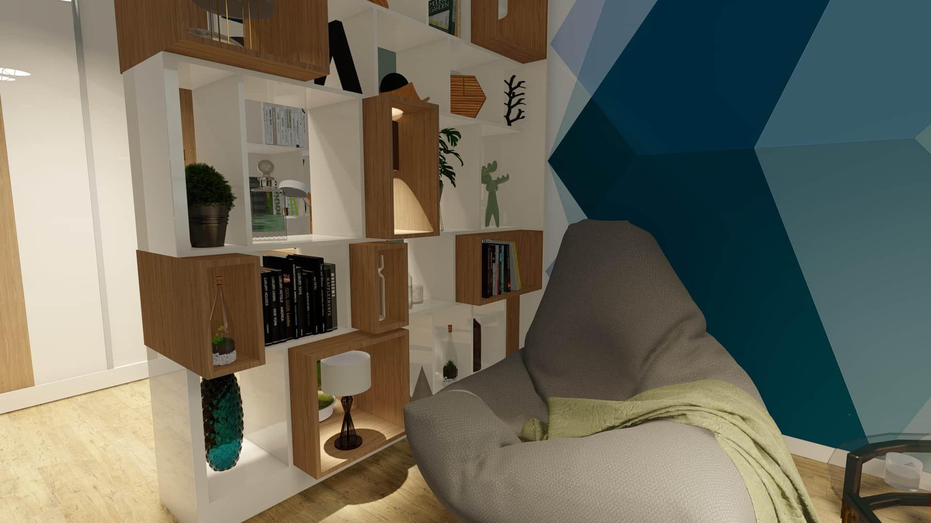 canapea moderna în living