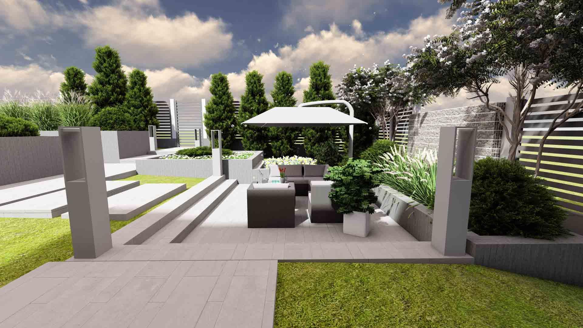 amenajare curte cu terasă