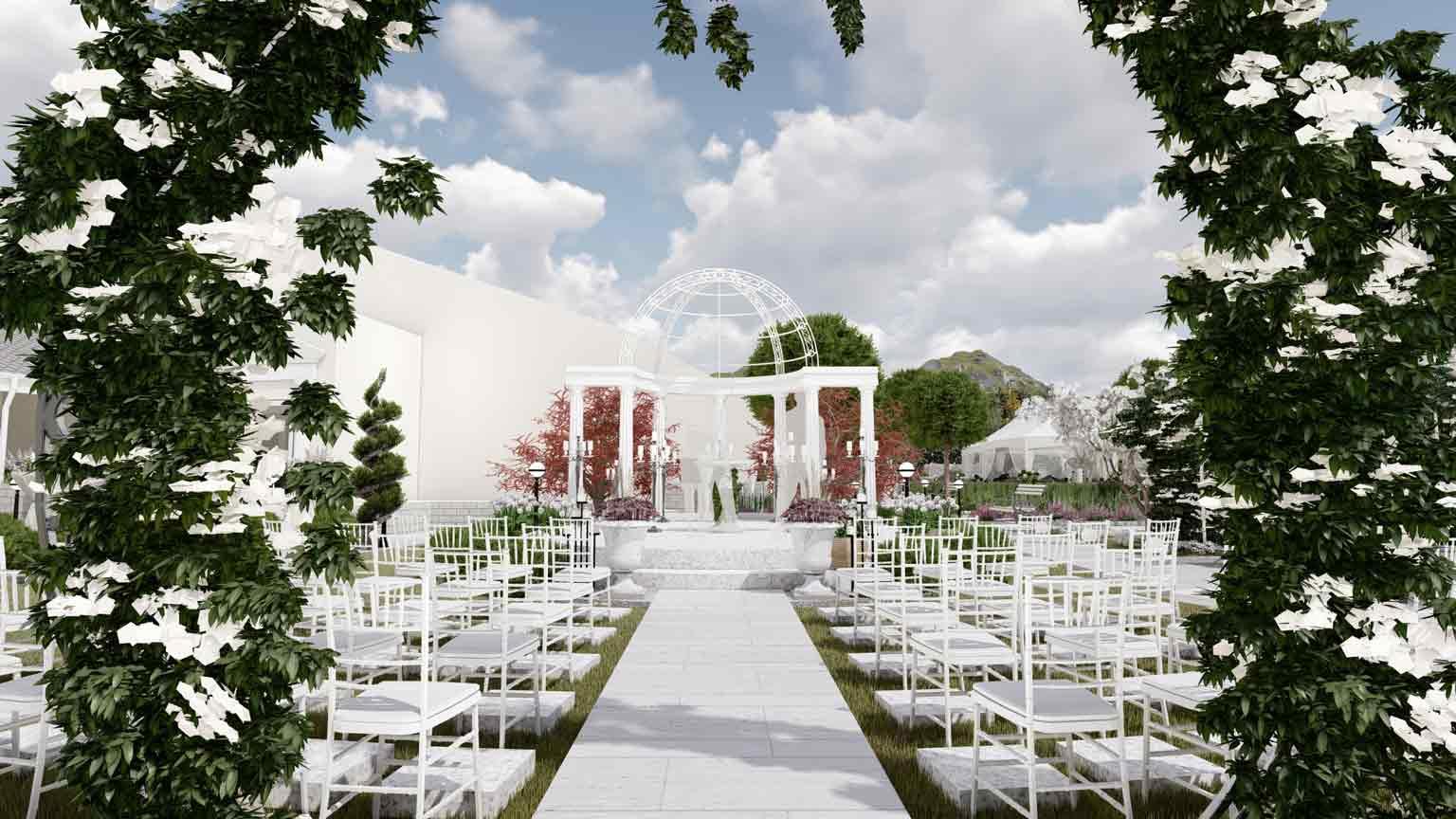 design exterior pentru sali de evenimente