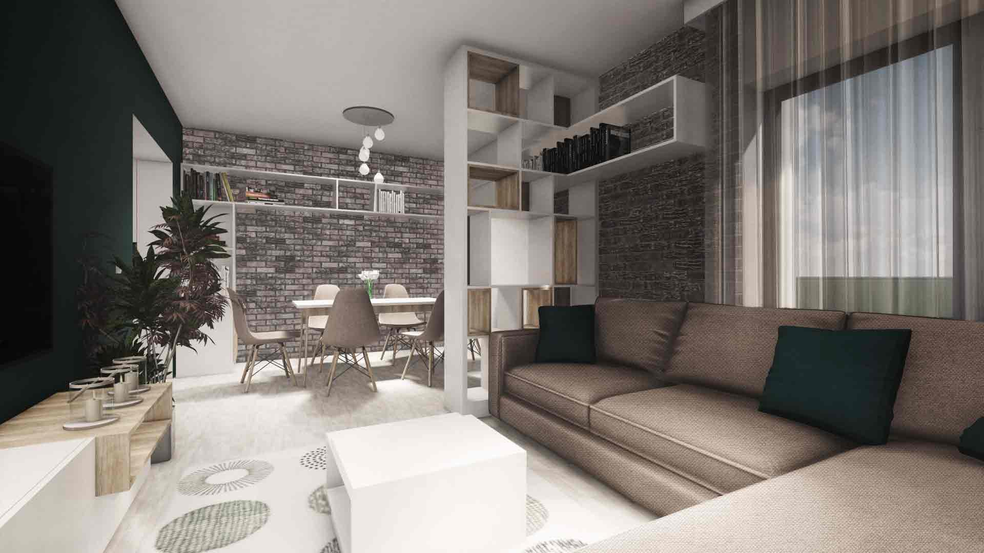 design interior pentru camera de zi