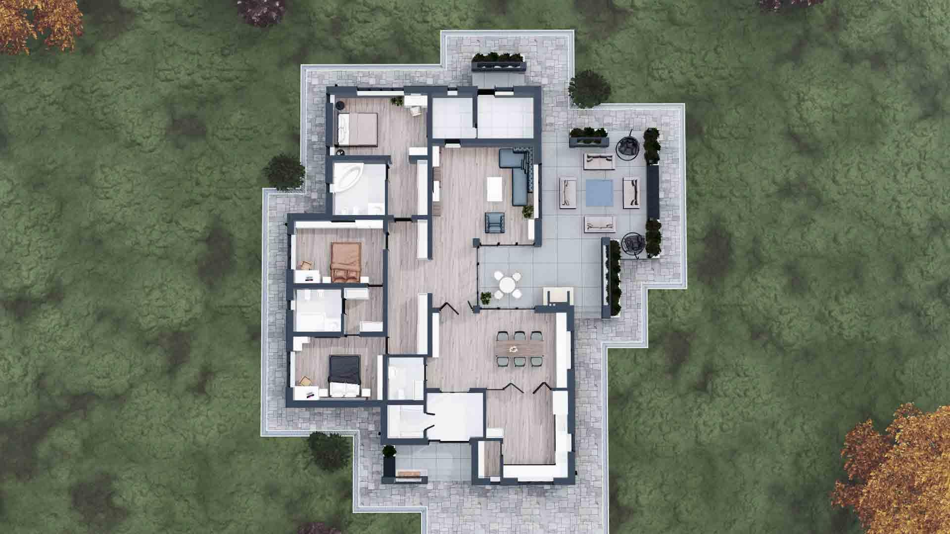 plan interior casa