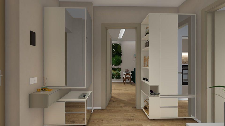 design interior hol apartament