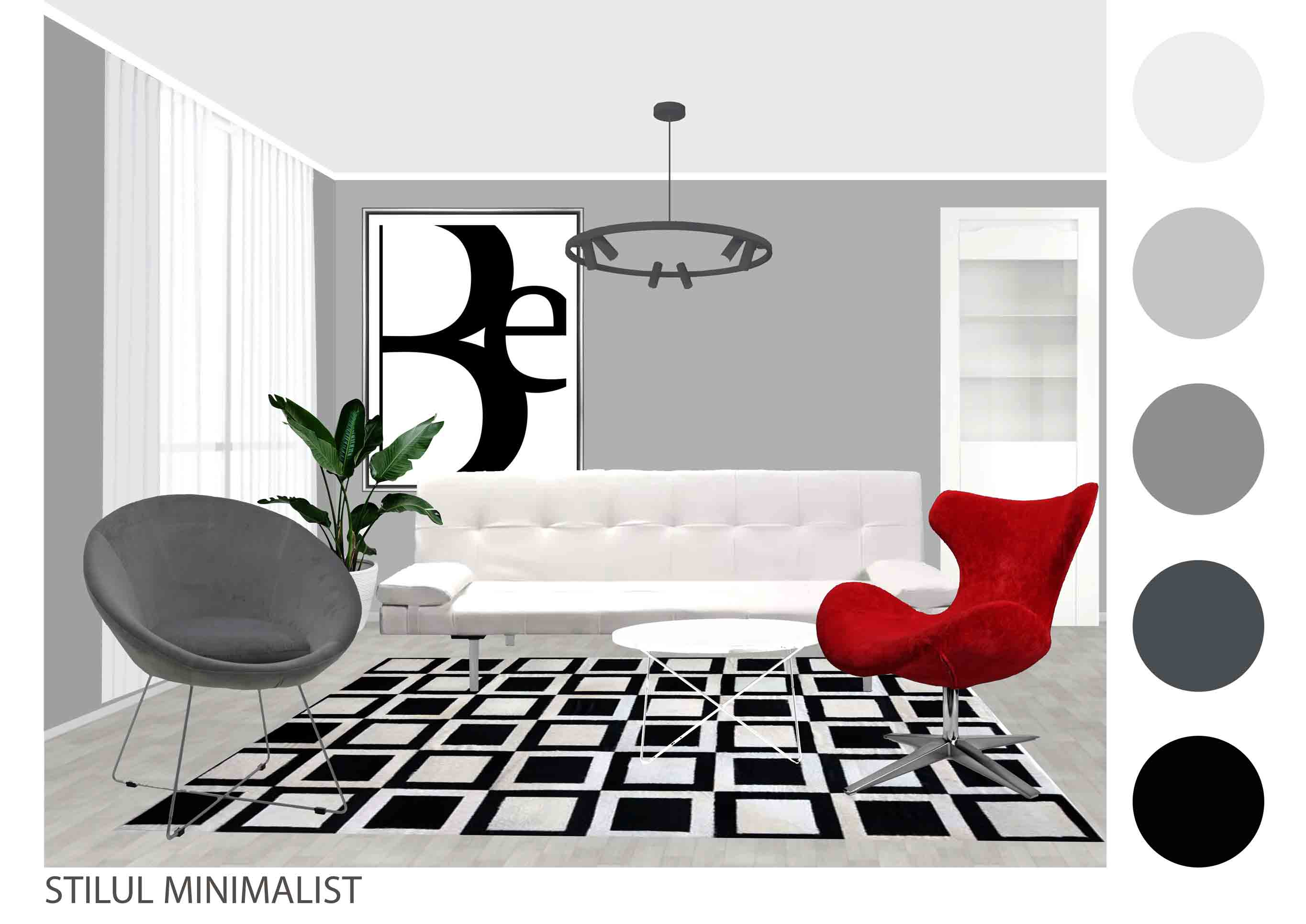 living in stil minimalist