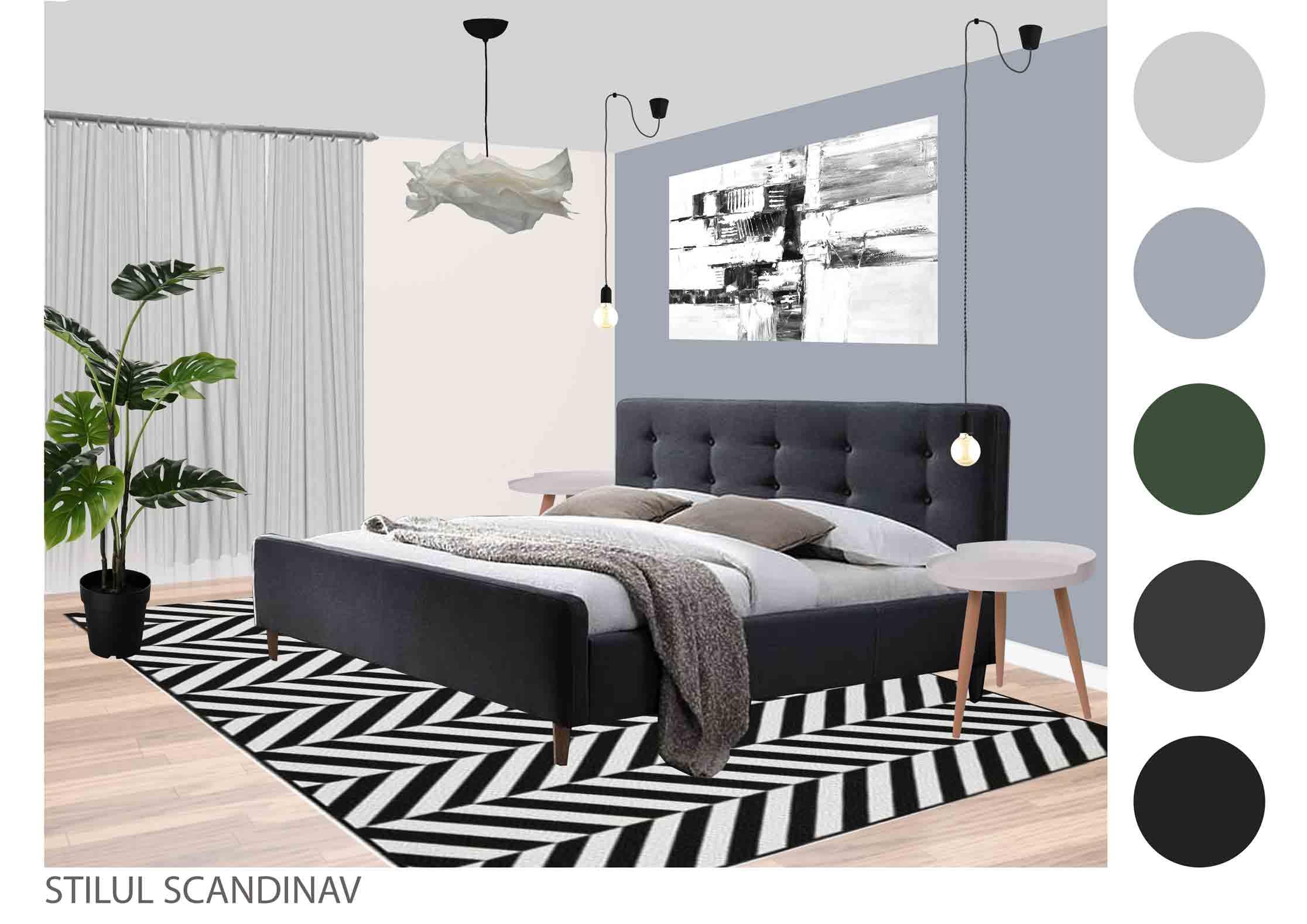 dormitor in stil scandinav