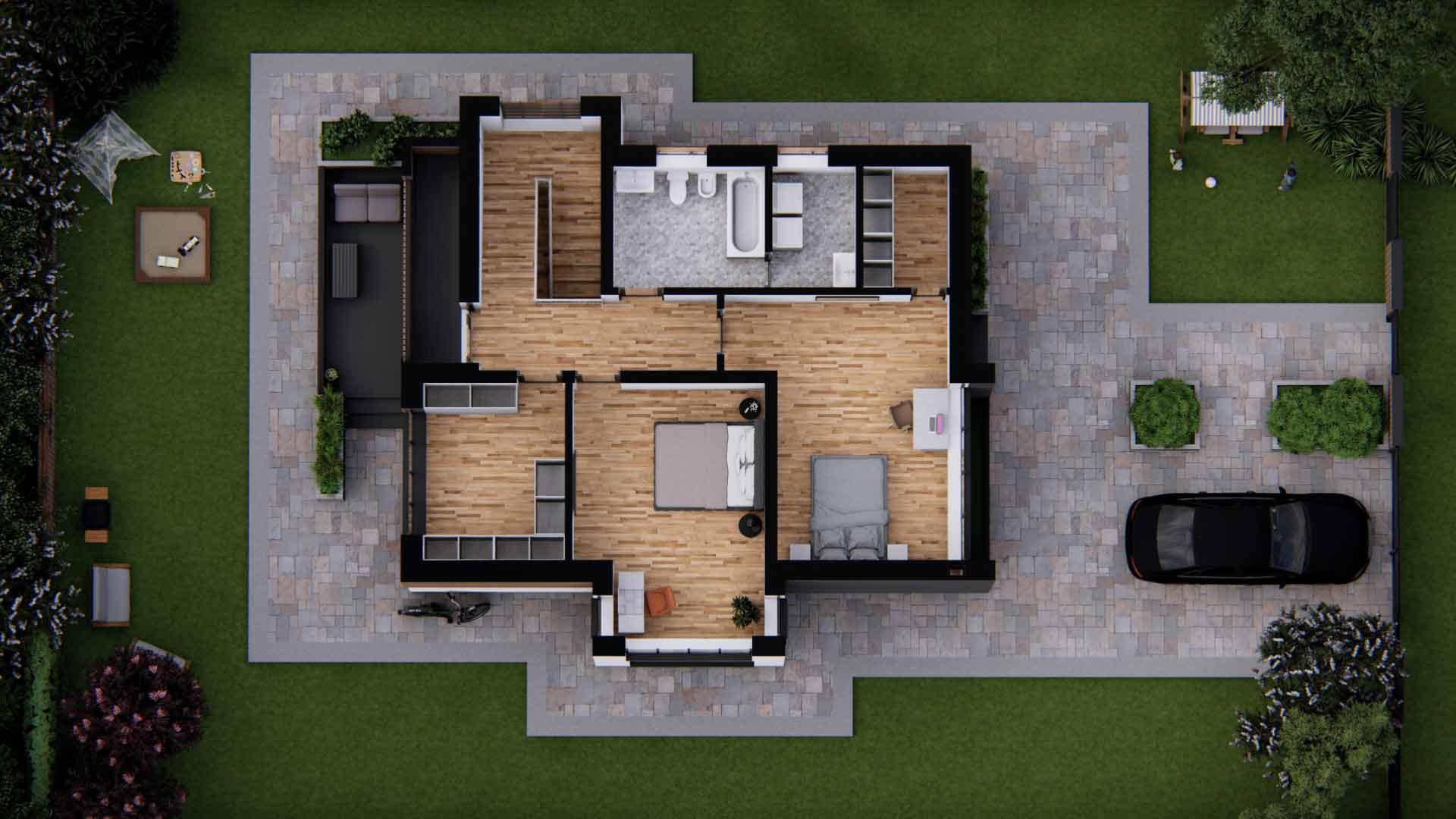 plan etaj locuinta