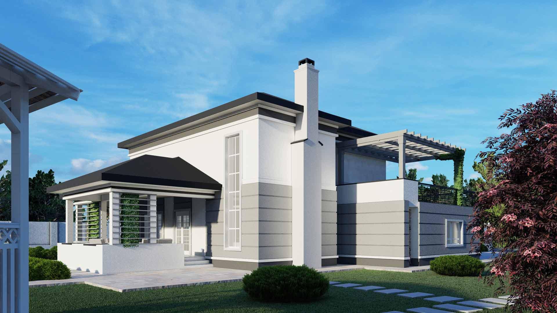 casa cu terasa