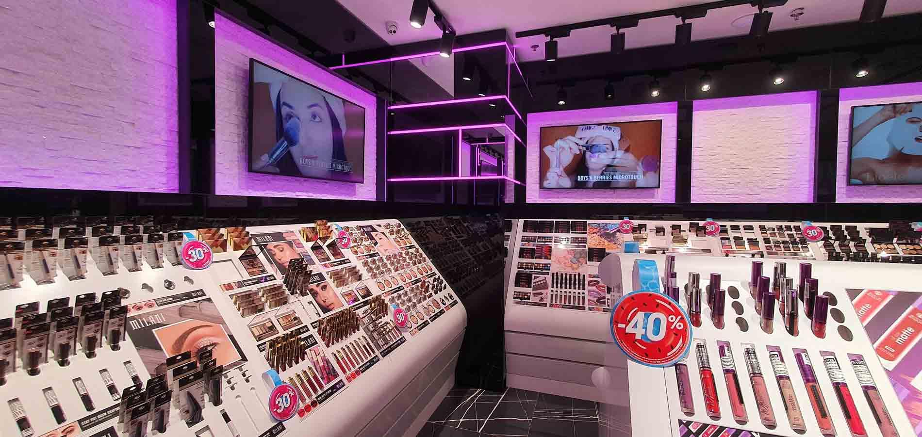 amenajare makeup shop iasi
