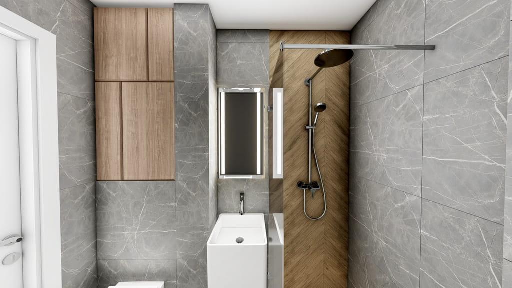 baie cu dus minimalista